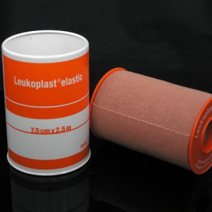 image 466_Leukoplast Elastic Tan Zinc Oxide Tape Orange Spool  7.5cm x 2.5m